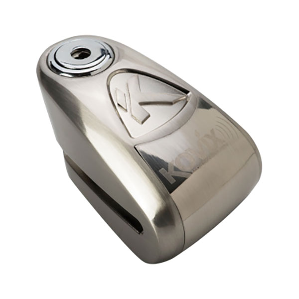 kal korvix kal disc lock brushed steel - The Best Scooter Disc Locks