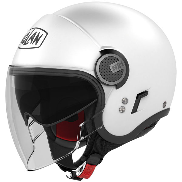 nolan n21 visor classic metal white - Best Open Face Motorcycle Helmet