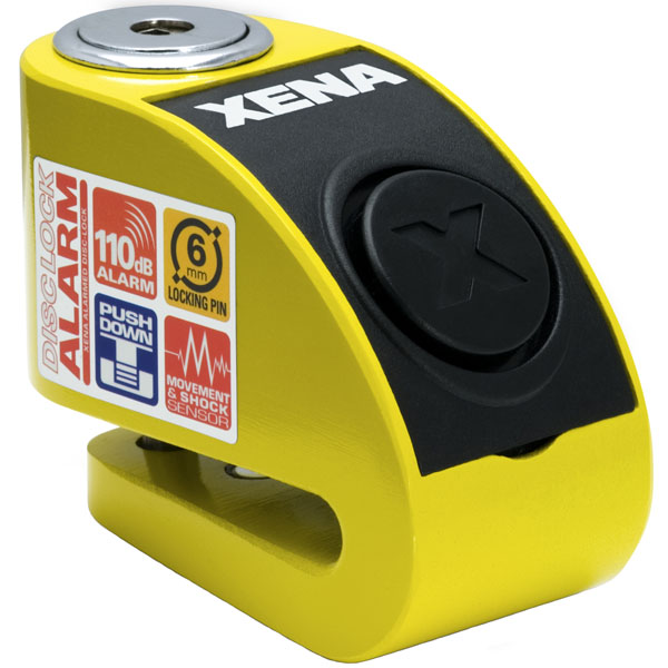 xena disclock xzz6 yellow - The Best Scooter Disc Locks