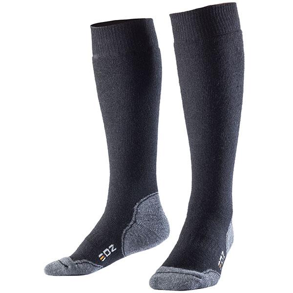 edz merino long boot socks black - The Best Motorcycle Socks
