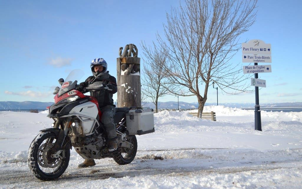 motorcycle riding snow 1024x640 - The Best Heated Motorcycle Gloves