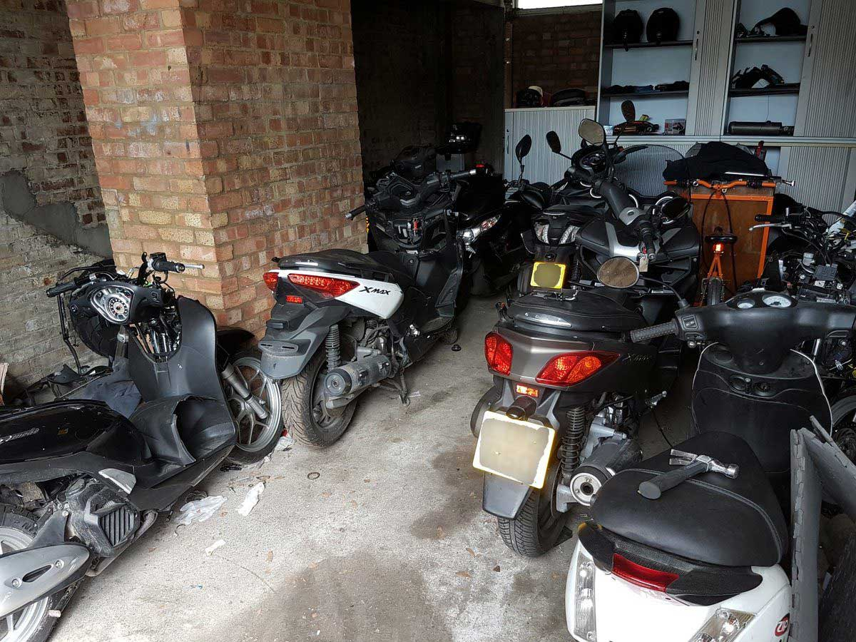 stolen mopeds gang garage - The Best Motorcycle Trackers