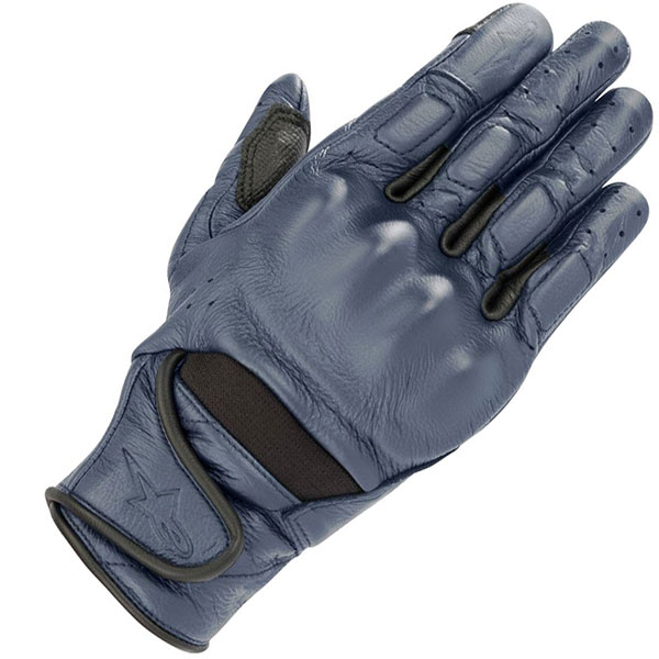 alpinestars gloves leather ladies vika v2 blue short motorcycle gloves - The Best Short Motorcycle Gloves