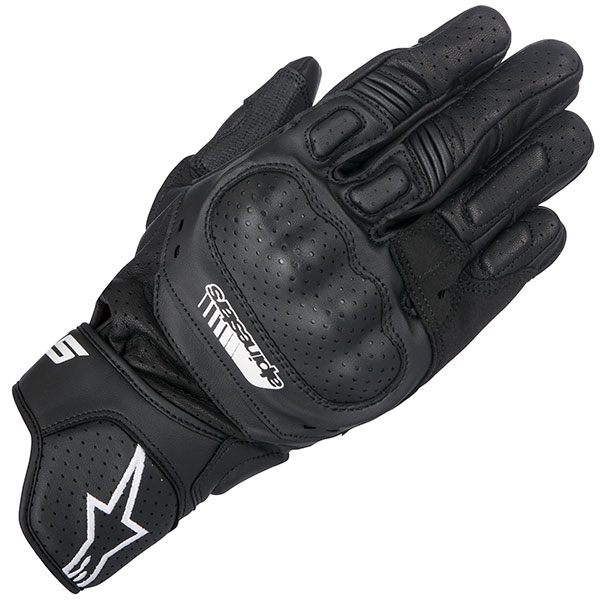 alpinestars leather gloves sp 5 black short cuff motorcycle glove - The Best Short Motorcycle Gloves