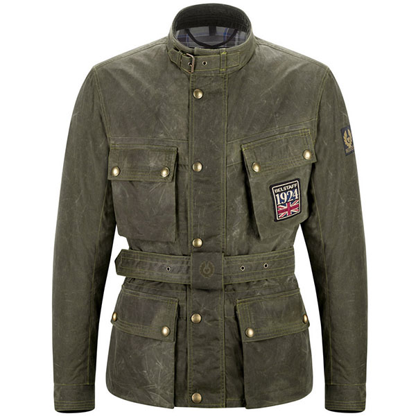 belstaff textile jacket jubilee trailmaster green wax jacket - Wax Cotton Motorcycle Jackets for Every Budget