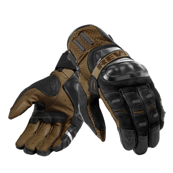 rev it cayenne pro textile gloves black sand short adventure motorcycle gloves - The Best Short Motorcycle Gloves