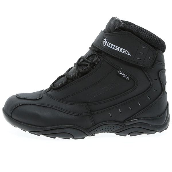 richa boots slick black short waterproof scooter - The Best Waterproof Motorcycle Boots