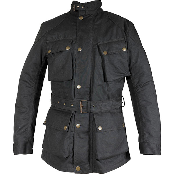 richa textile jacket bonneville black - Wax Cotton Motorcycle Jackets for Every Budget