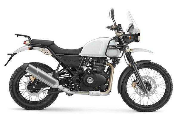 royal enfield himalayan snow white uk - The Best Small Adventure Bikes