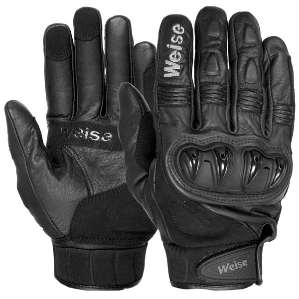 weise gloves leather scooter short gloves - The Best Short Motorcycle Gloves