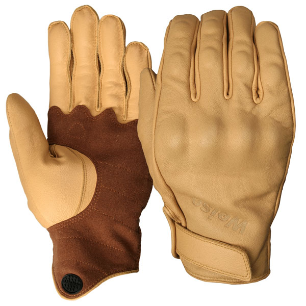 weise gloves leather victory tan brown short cuff motorcycle - The Best Short Motorcycle Gloves