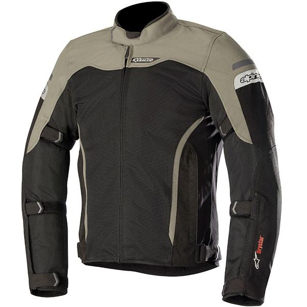 alpinestars leonis drystar air textile jacket black military green mesh - Mesh Motorcycle Jackets Showcase