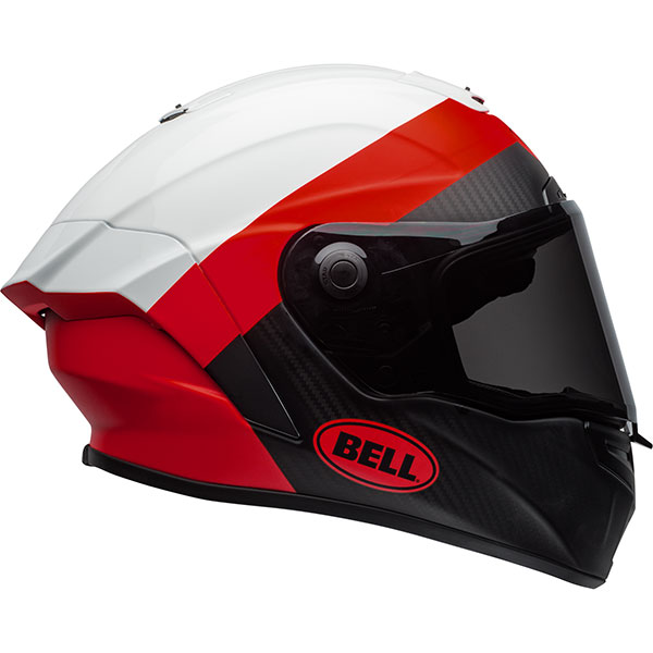 bell helmet race star surge white red black carbon fibre - The Best Carbon Fibre Motorcycle Helmets
