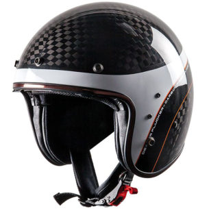 dexter plucker kadwell carbon fibre open face 305x305 - The Lightest Motorcycle Helmets