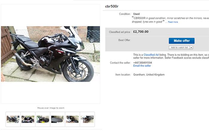 honda cbr500 cheap - The Best Motorcycles Under £3000