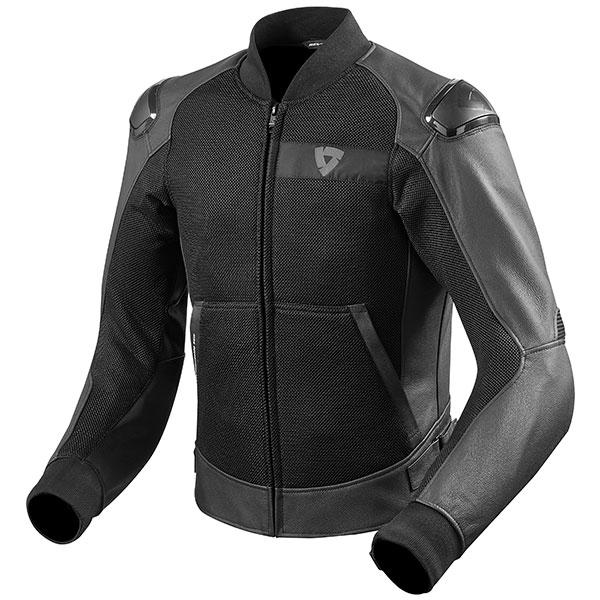 rev it jacket leather blake air black mesh leather - Mesh Motorcycle Jackets Showcase