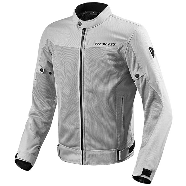 rev it jacket textile eclipse silver mesh leather - Mesh Motorcycle Jackets Showcase