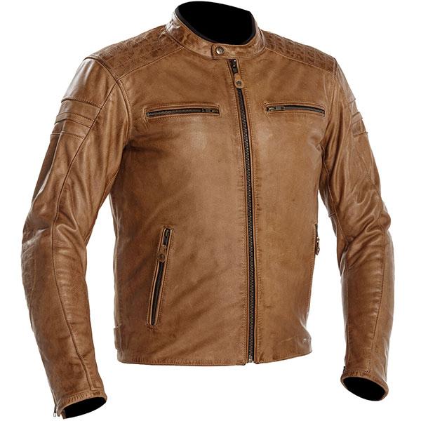 richa daytona 60s leather jacket cognac update biker - Retro Motorcycle Jackets for Every Budget