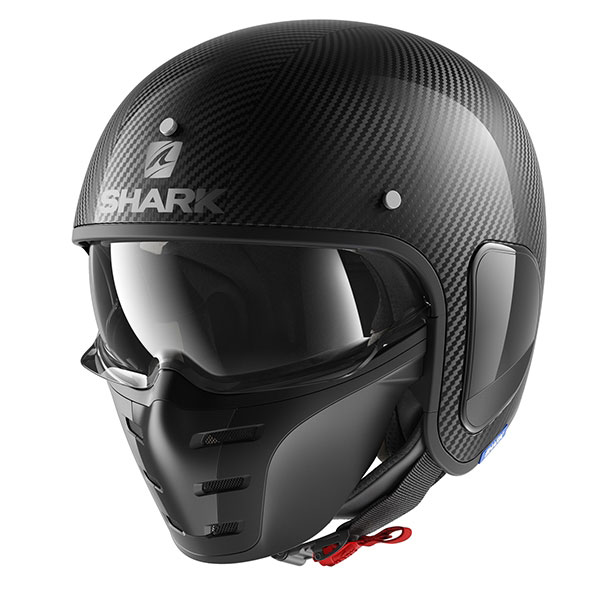 shark helmet open face s drak skin carbon fibre - The Best Carbon Fibre Motorcycle Helmets