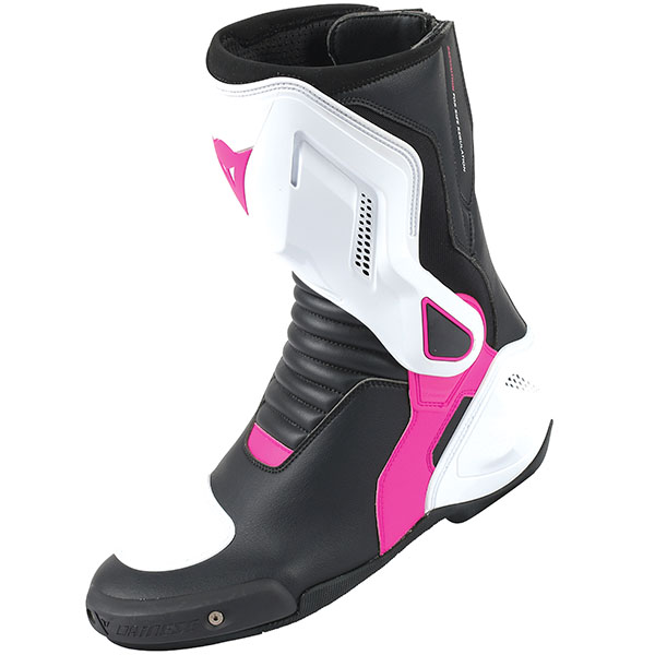 dainese nexus lady boots black white fucsia - Ladies Motorcycle Boots Guide