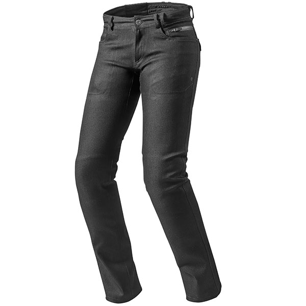 rev it ladies jeans textile orlando h2o black - Ladies Motorcycle Jeans Showcase