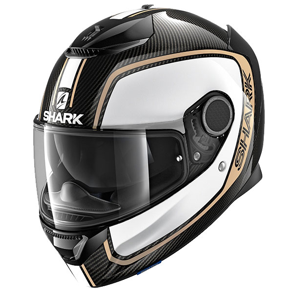 shark helmet spartan carbon priona white gold - The Lightest Motorcycle Helmets