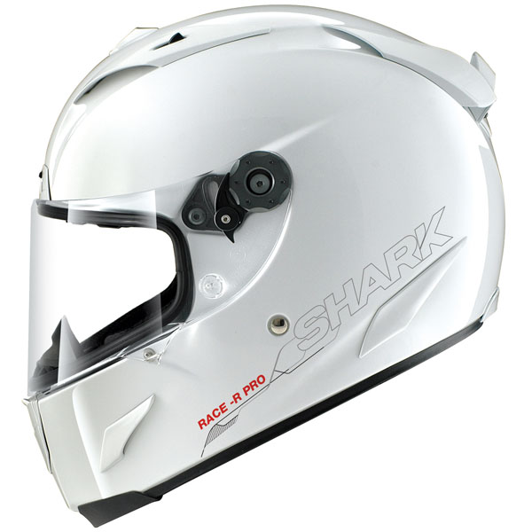 shark race r pro blank white - The Lightest Motorcycle Helmets