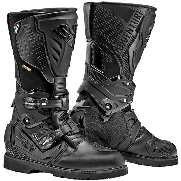 sidi boots adventure 2 gore black - The Best Gore-Tex Motorcycle Boots