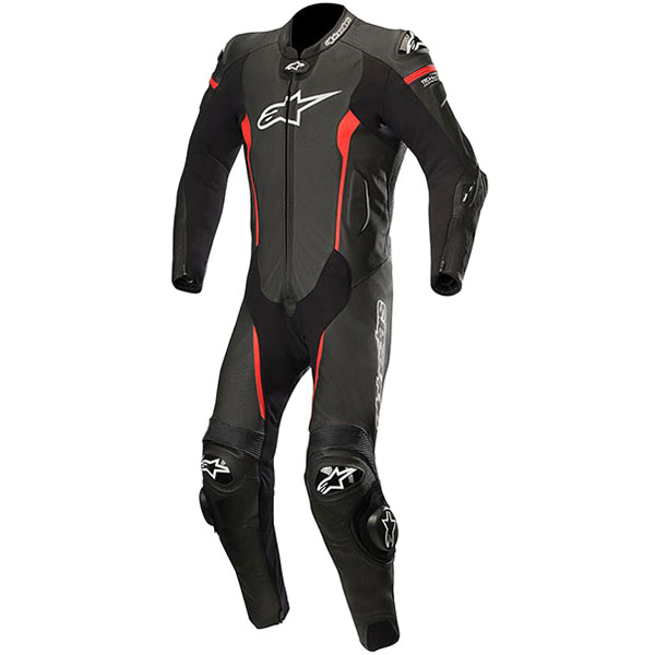 alpinestars missile 1 piece suit black red update airbag - Motorcycle Airbag Options