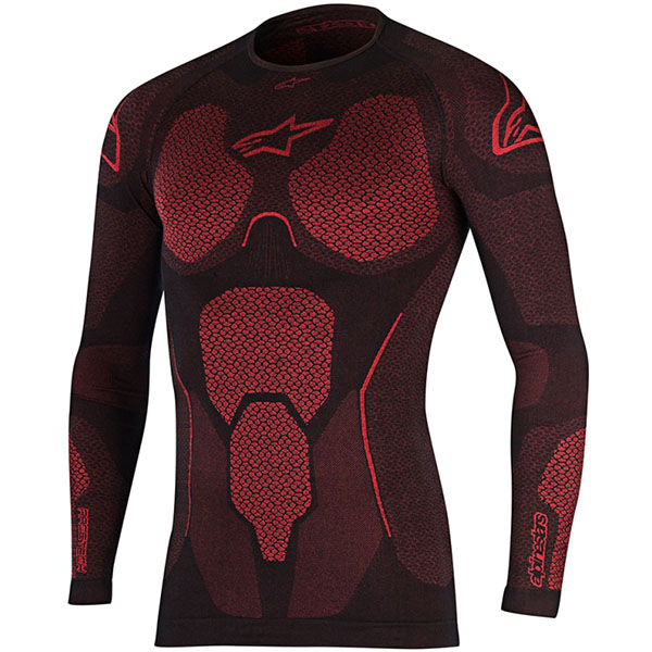 alpinestars base layer ride tech summer ls top black red motorcycle - The Best Motorcycle Base Layers