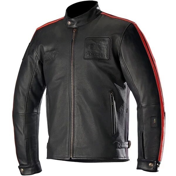 alpinestars leather jacket charlie tech air compatible black red 1 - Motorcycle Airbag Options