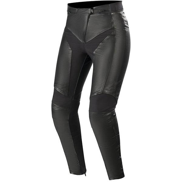 alpinestars leather jeans stella vika v2 black female - Women's Motorcycle Leathers