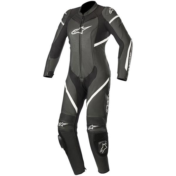 alpinestars suit leather stella kira black white ladies - Women's Motorcycle Leathers