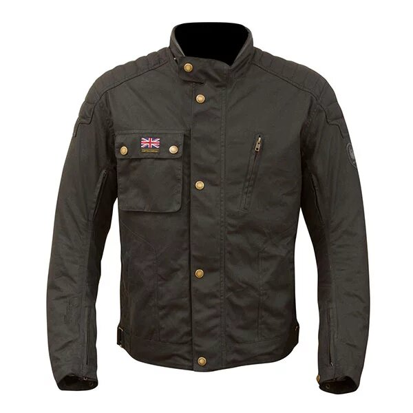 merlin textile wax jacket stafford black - Motorcycle Airbag Options