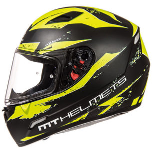 mt helmet full face mugello vapour black yellow 305x305 - CBT Clothing Guide