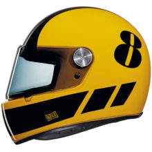 nexx helmet x.g100 racer billy b yellow black retro 220x220 - Retro Motorcycle Helmet Showcase