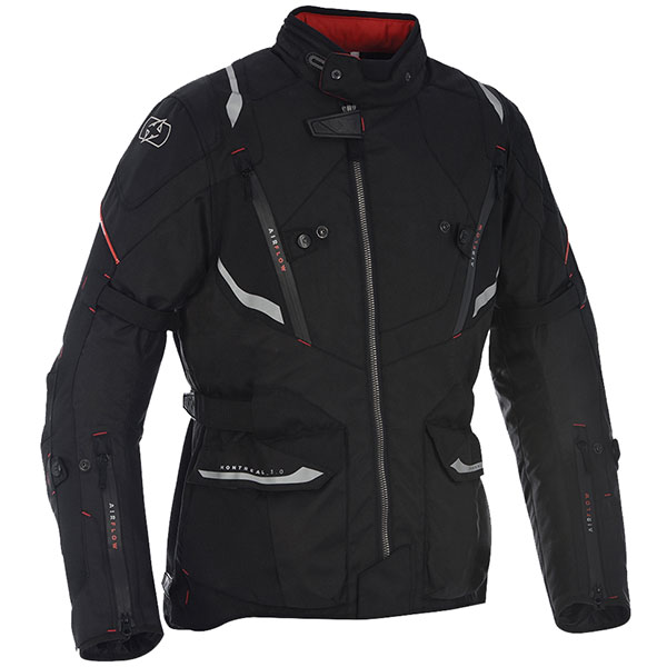 oxford textile jacket montreal 3 tech black waterproof jacket - Waterproof Textile Motorcycle Jackets Showcase