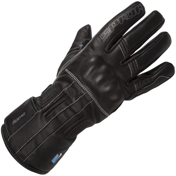 spada ladies glove flame waterproof black womens motorbike - Women's Motorcycle Gloves