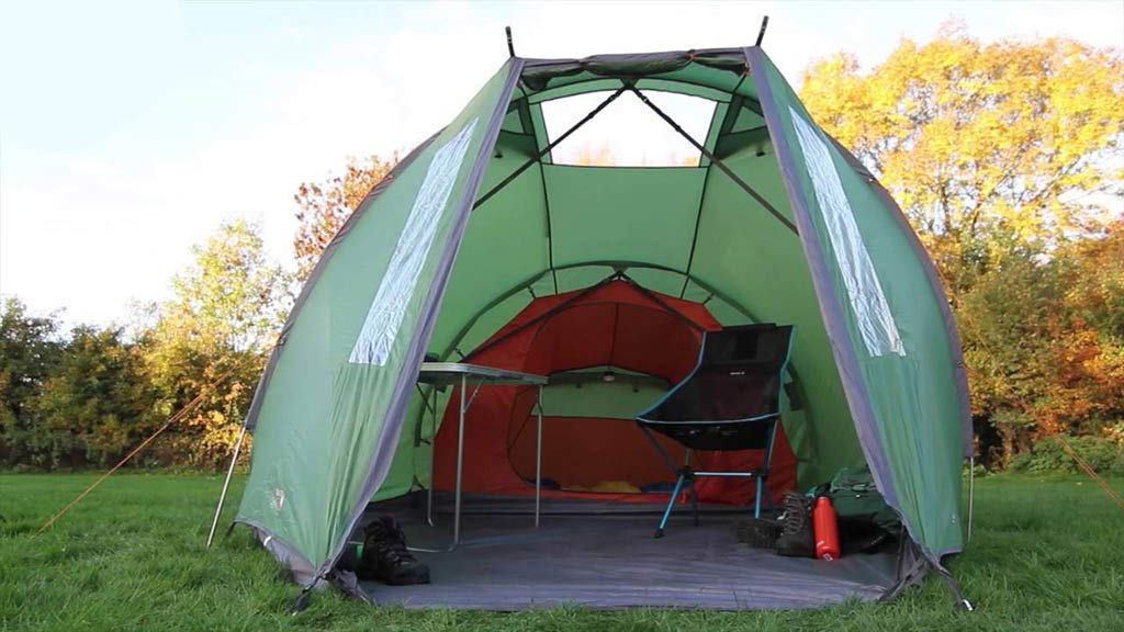 vango tent with porch 1024x576 - The Best Tents for Bikers